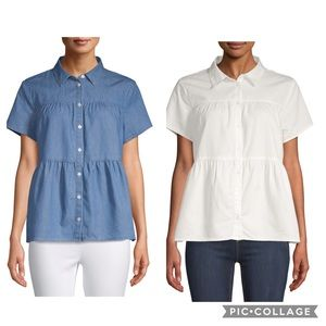 Time & Tru Women's Tiered Button Top Bundle NWT